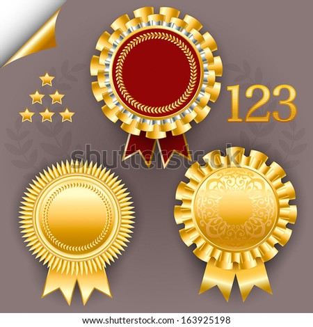 Vector Images, Illustrations and Cliparts: Red and gold