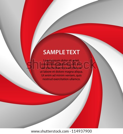 Red and gray background with bubble, vector