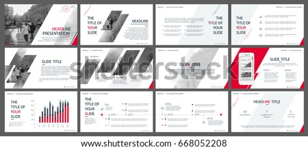 Shutterstock Red and gray elements for infographics on a white background. Presentation templates. Use in presentation, flyer and leaflet, corporate report, marketing, advertising, annual report, banner.