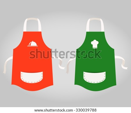 red and green apron template