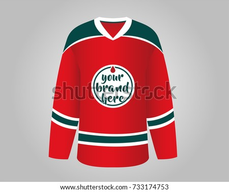 red and green hockey jersey