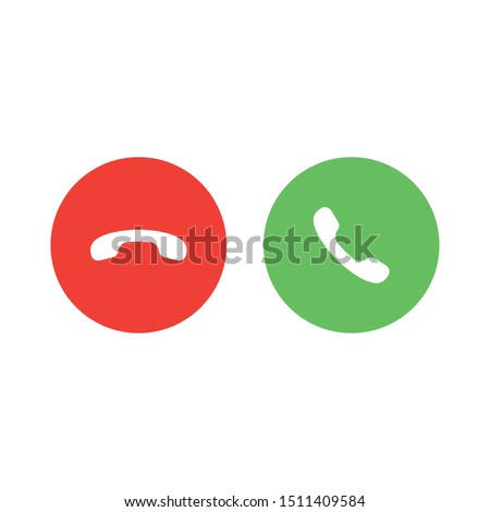 Red and green yes no buttons icon isolated on white background. Answer and decline symbol modern, simple, vector, icon for website design, mobile app, ui. Vector Illustration