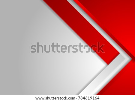 Red and grey abstract tech corporate background. Material vector graphic design