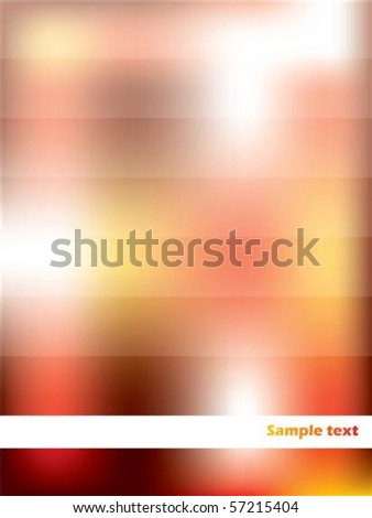 Red and orange abstract with white stripes
