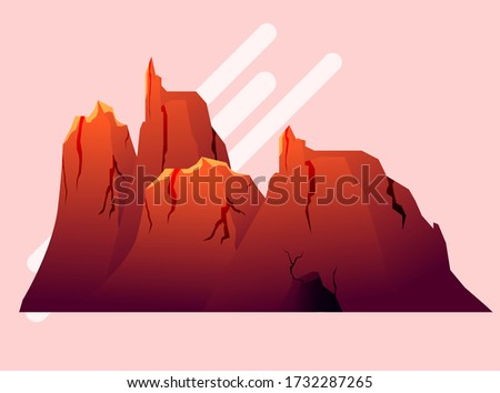 red and orange color mountain