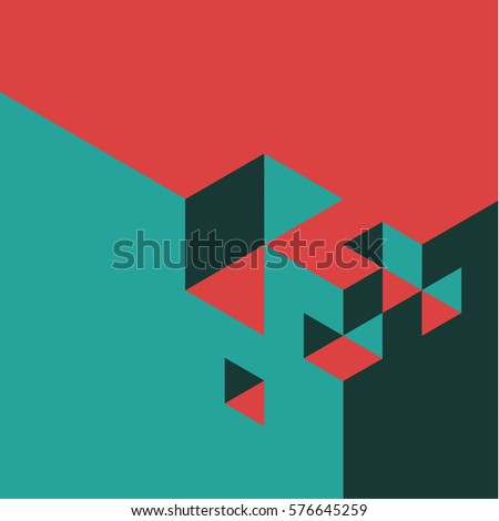 red and teal vector abstract