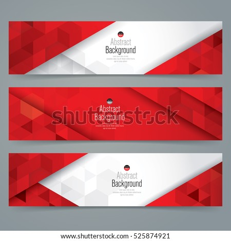 Red and white abstract background banner. Collection banner design.