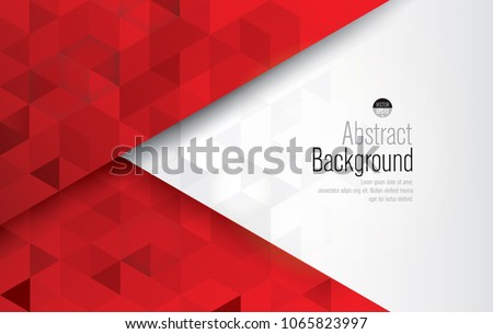 Red and white background vector. Can be used in cover design, book design, website background, flyer, CD cover or advertising.