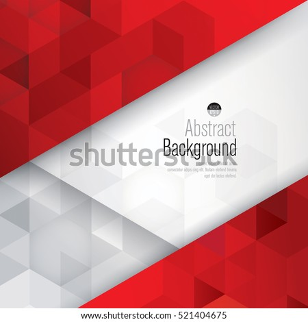 Red and white background vector. Can be used in cover design, book design, website background, CD cover, advertising.