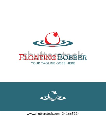red and white bobber logo for fishing related business, website
