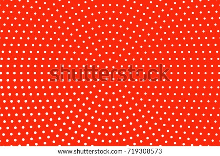 red and white dotted halftone
