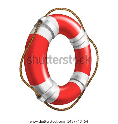 red and white flotation ring