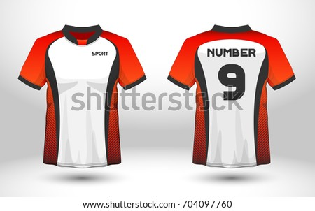 Royalty Free Red And White Layout Football Sport T 704511745 Stock