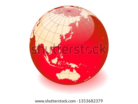 red and white spherical earth