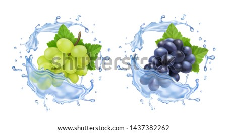red and white table grapes in