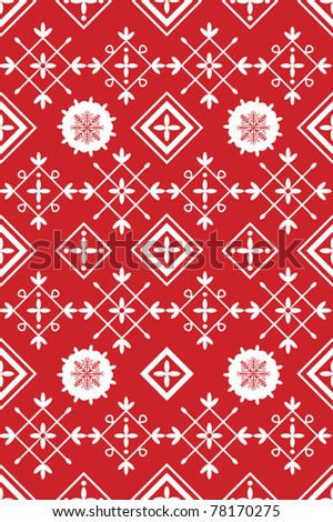 Red And White Xmas Table Linen Design Stock Vector 78170275