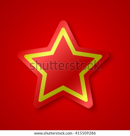 red and yellow star banner