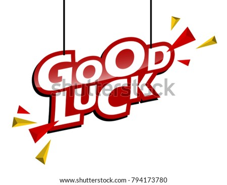 red and yellow tag good luck