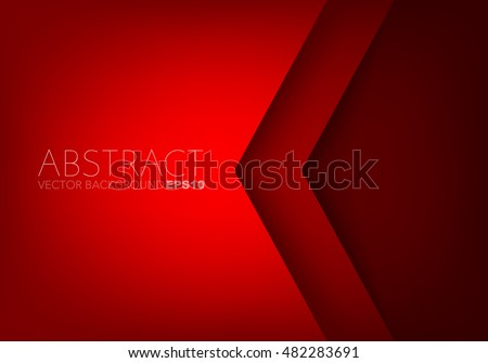 Red angle arrow overlap vector background on space for text and message artwork design - Shutterstock ID 482283691