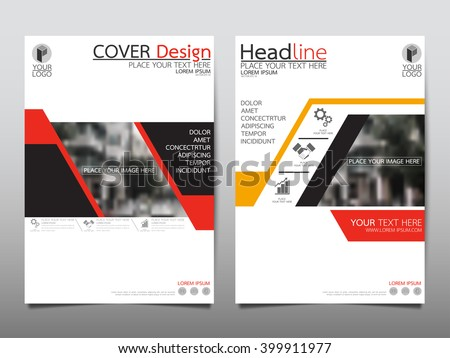 Red annual report brochure flyer design template vector, Leaflet cover presentation abstract flat background, layout in A4 size