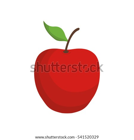 red apple fruit icon vector