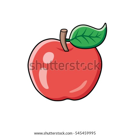 red apple fruit isolated