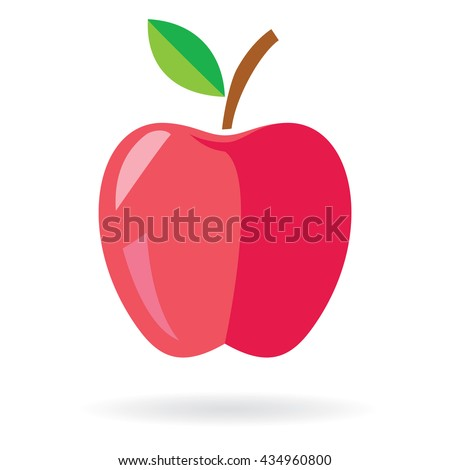 red apple icon color apple