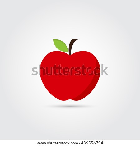 red apple icon   vector