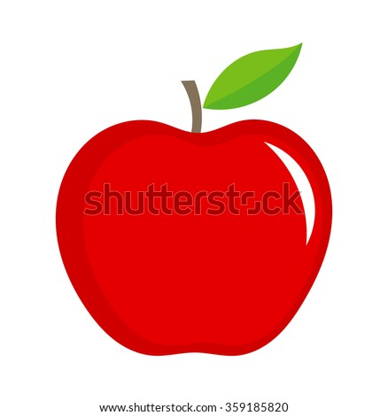 red apple illustration isolated