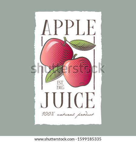 red apple juice label healthy