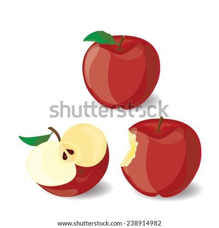 red apple vector illustration 1
