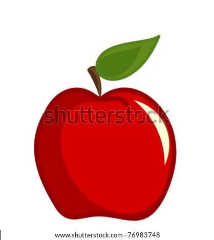 Red apple vector illustration
