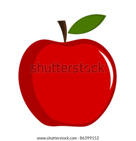 Red apple - vector illustration