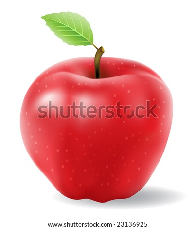 red apple vector isolated on a