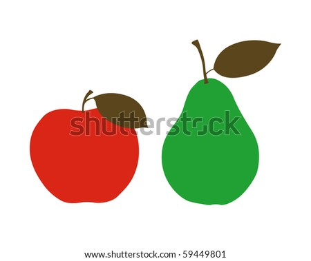 Red apple with pear