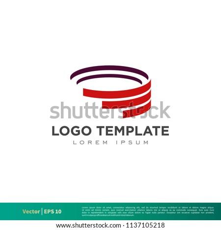 Red Arena, Colosseum Icon Vector Logo Template