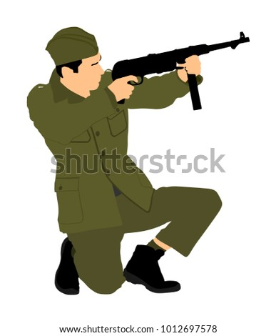 red army soldier vector