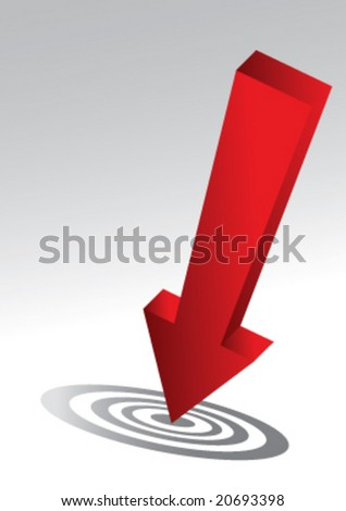 red arrow business concept,vector