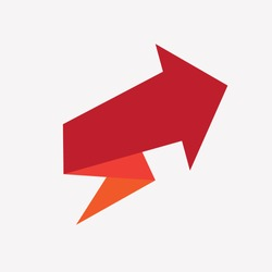 Red arrow design for infographics, diagram, graph, presentation and chart. Business concept. Modern options banner.