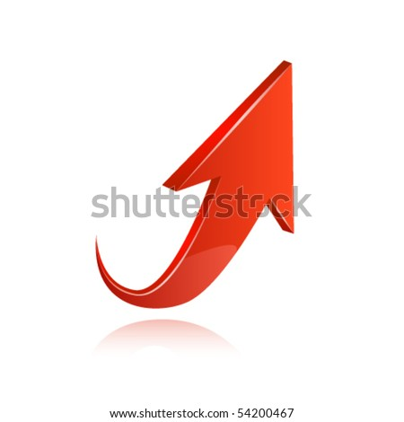 Red arrow. Vector