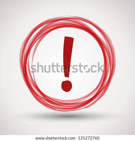 red attention symbol. communication concept