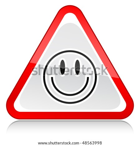 red attention warning sign with