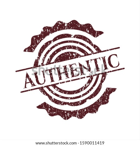 Red Authentic distress grunge style stamp