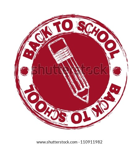 red back to school seal isolated over white background. vector