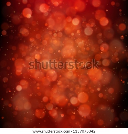 Red background with bokeh lights. EPS 10 #1139075342