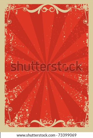 Red background with grunge elements decoration .Retro image for text