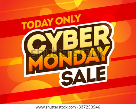 Red background with text for cyber monday. Vector illustrations. Cyber Monday banner design