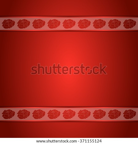 red background with two