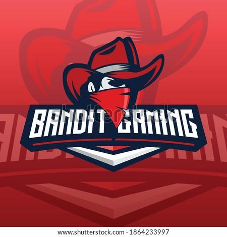 red bandit e-sport logo concept Photo stock ©