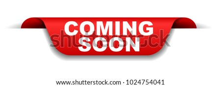 red banner coming soon Stockfoto ©